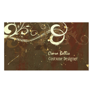 Costume Designer ~ Chocolate swirls Pack Of Standard Business Cards