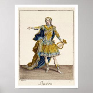Costume for Apollo in the opera Phaethon engrav Poster