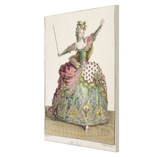 Costume for Medea in the opera 'Jason and Medea', Stretched Canvas Print