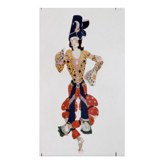 Costume for Nijinsky  in the ballet Poster