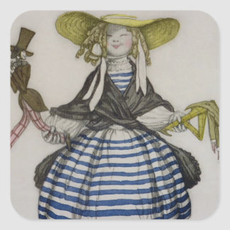 Costume for the Puppet Girl, from La Boutique Fant Square Sticker