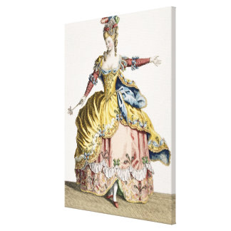 Costume for the Queen of the Sylphs in the Ballet Stretched Canvas Prints