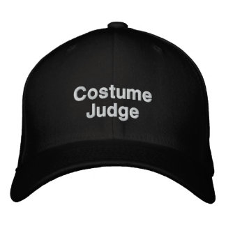 Costume Judge Embroidered Hat