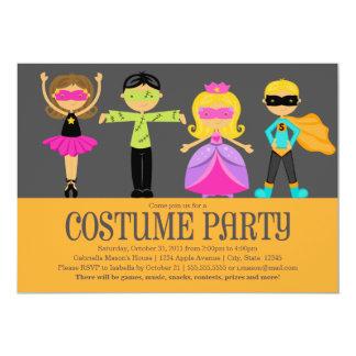 Costume Party 13 Cm X 18 Cm Invitation Card