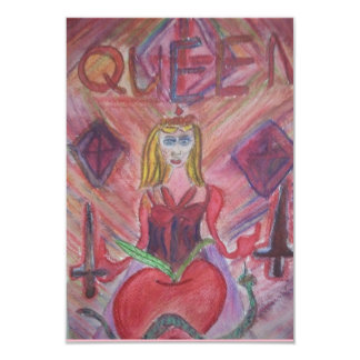 COSTUME PARTY QUEEN CARD
