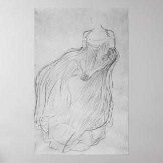 Costume study by Gustav Klimt Posters
