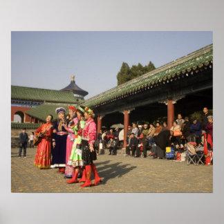 Costumed amateur folk dancers entertain posters