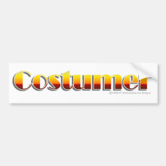 Costumer (Text Only) Bumper Sticker