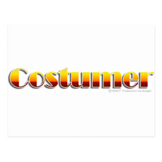 Costumer (Text Only) Postcard