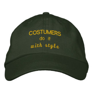 Costumers do it with Style Embroidered Hats