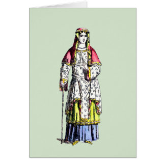 ~ COSTUMES ~ 950 AD ~ Personalised for FELICITY ~ Card