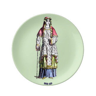 ~ COSTUMES ~ A Lady of Rank ~ 950 AD ~ Plate