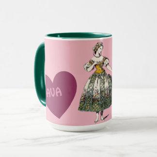 Costumes ~ Personalised AVA ~ Valentine's Day Mug