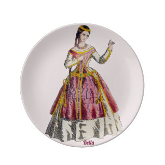 COSTUMES ~Spanish Lady of Rank~Personalised BELLA~ Plate