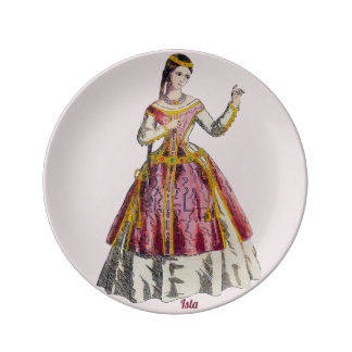 COSTUMES ~Spanish Lady of Rank~Personalised ISLA ~ Plate
