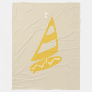 Cosy Beige Yellow Wind Surf Blanket