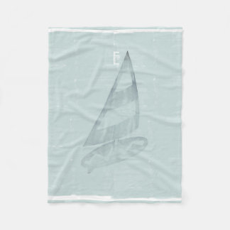 Cosy Cool Mint Wind Surfer Nautical Sea Blanket