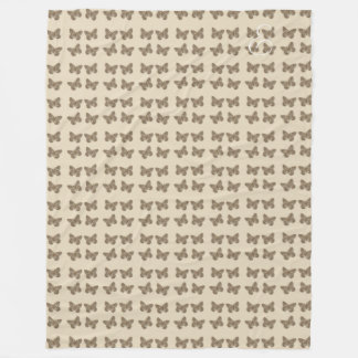 Cosy Cute Gold Butterfly Pattern Beige Blanket