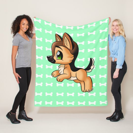 Cosy German Shepherd Soft Fleece Blanket SMALL
