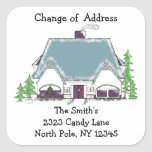 Cosy House Change of Address Square Stickers