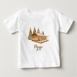 Cosy Log Cabin - Hygge or your own text Baby T-Shirt