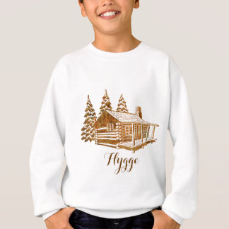 Cosy Log Cabin - Hygge or your own text Sweatshirt