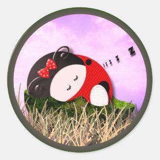 Cosy Nap Classic Round Sticker