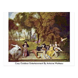 Cosy Outdoor Entertainment By Antoine Watteau Postcard