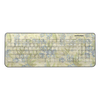 Cosy vintage floral textile Forget Me Not Wireless Keyboard