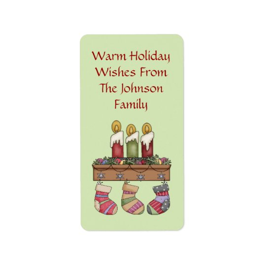 Cosy Wishes Holiday Gift Tags Address Label
