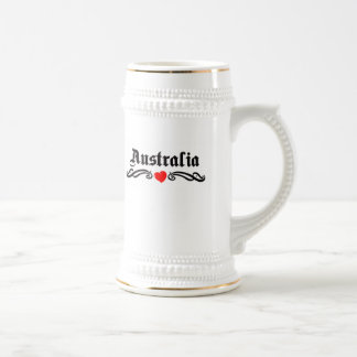 Cote D&Apos;Ivoire Tattoo Style 18 Oz Beer Stein