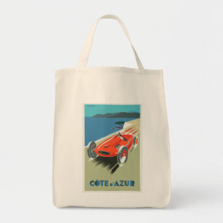 Cote d Azur French vintage Travel poster Tote Bag