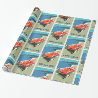 Cote d Azur French vintage Travel poster Wrapping Paper
