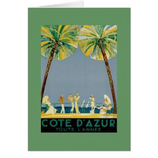 Cote D' Azur Posters - Vintage Card