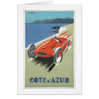 Cote d Azur Vintage Race Car Card