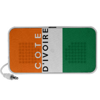 cote d ivoire country flag symbol name text ivory mini speaker