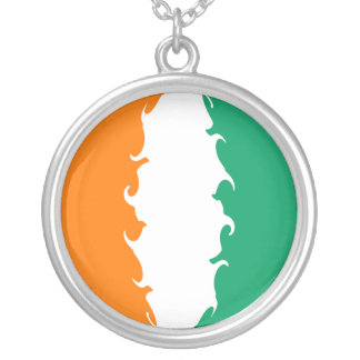 Cote d Ivoire Gnarly Flag Custom Necklace
