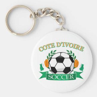 Cote D' Ivoire Soccer Designs Basic Round Button Key Ring