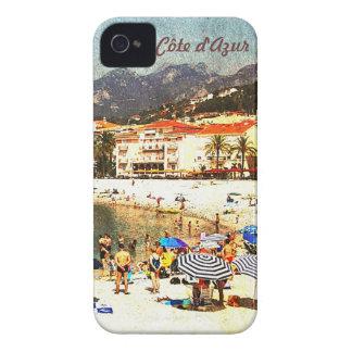 Côte d'Azur, retro beach scene i-phone case