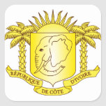côte d'ivoire emblem square sticker