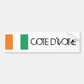 Cote d'Ivoire Flag Bumper Sticker