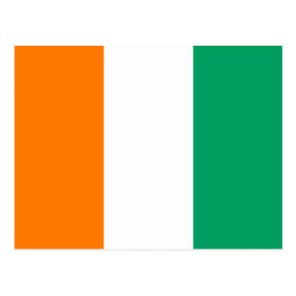 Cote d'Ivoire Flag Postcard