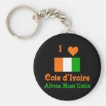 Cote d'Ivoire Keychains