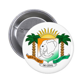 Côte d'Ivoire Official Coat Of Arms Heraldry Symbo 6 Cm Round Badge
