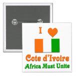 Cote d'Ivoire Pinback Button