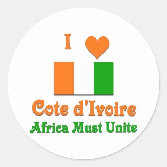Cote d'Ivoire Round Sticker