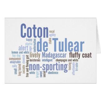 Coton de Tulear Card