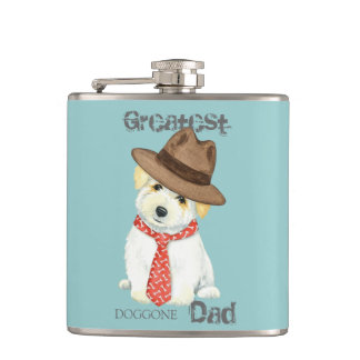 Coton de Tulear Dad Hip Flask