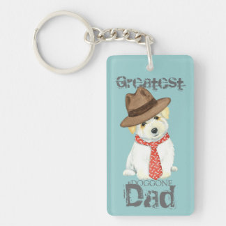 Coton de Tulear Dad Key Ring