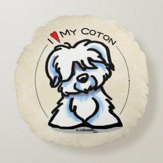 Coton de Tulear Lover Round Cushion